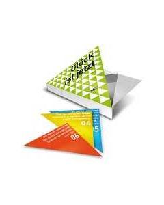 Glück ist jetzt - Dreieckskartenset