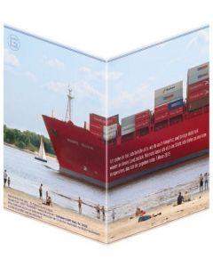 "Faltkarte ""Containerschiff"" - 5er Serie"