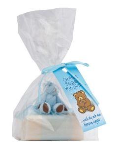 """Schafmilchseife """"Teddy"""" - hellblau"""