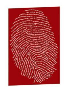 """Postkarte """"Einzigartig"""" - 10er Serie rot"""