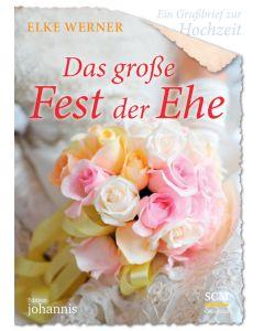 Ein Grußbrief zur Hochzeit - Das große Fest der Ehe - 5 Stück