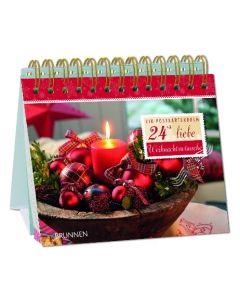 24+2 liebe Weihnachtswünsche - Tischaufsteller