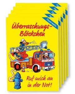 """Überraschungs-Blöckchen """"Feuerwehr"""" - 5er-Pack"""