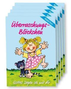 "Überraschungs-Blöckchen ""Mädchen"" - 5er-Pack"