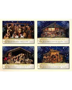 Kleinkärtchenserie Weihnachtskrippen, 12 Stück