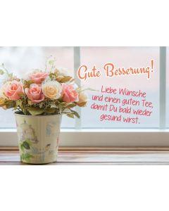 Tee-Postkarte - Gute Besserung!
