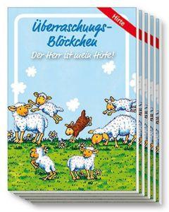 """Überraschungs-Blöckchen """"Guter Hirte"""" - 5er-Pack"""
