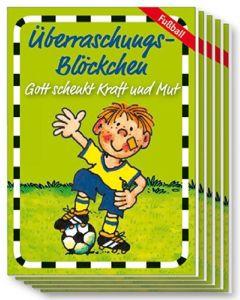 "Überraschungs-Blöckchen ""Fußballer"" - 5er-Pack"