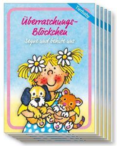 """Überraschungs-Blöckchen """"Tierkinder"""" - 5er-Pack"""