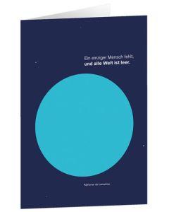 """Faltkarte """"Ein einziger Mensch fehlt"""" - 5er Serie"""