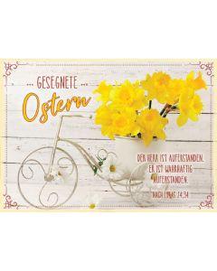 """Postkartenserie """"Gesegnete Ostern"""" Narzissen - 12 Stück"""