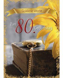 Goldene Worte - Zum 80. Geburtstag