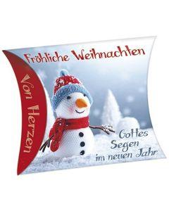 """Schafmilchseife Herz """"Fröhliche Weihnachten"""" (Schneemann)"""
