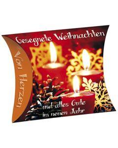 """Schafmilchseife Herz """"Gesegnete Weihnachten"""" (Kerzen)"""