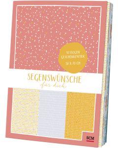 Segenswünsche für dich - Geschenkpapierbuch