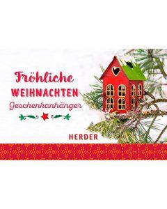 Fröhliche Weihnachten - Geschenkanhänger