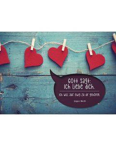 """Postkarten """"Gott sagt: Ich liebe dich."""" 12er-Serie"""