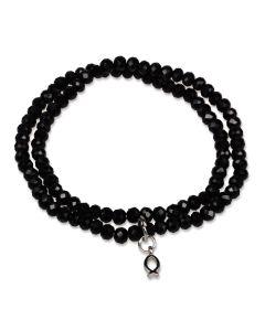 Perlenarmband - schwarz