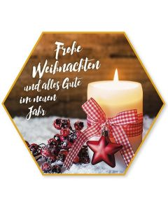 """Schafmilchseife Stern """"Frohe Weihnachten"""""""