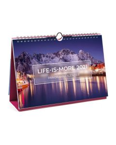 Life is more 2021 - Panorama-Tischkalender