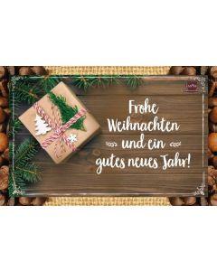 Kaffeekarte - Frohe Weihnachten