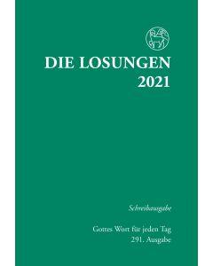 Losungen 2021 grün, Schreibausgabe