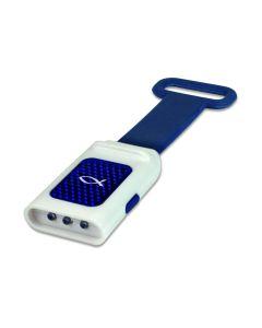 LED Taschenlampe Reflektor Ichthys blau