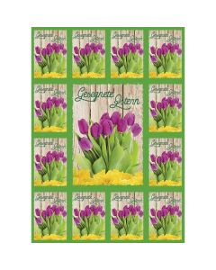 Aufkleber-Gruß-Karten: Gesegnete Ostern, 12 Stück
