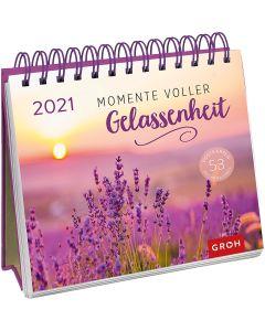 Momente voller Gelassenheit 2021 - Postkartenkalender