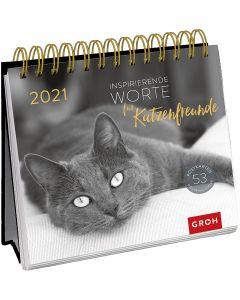 Inspirierende Worte für Katzenfreunde 2021 - Postkartenkalender