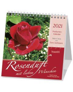 Rosenduft mit lieben Wünschen 2021 - Postkartenkalender