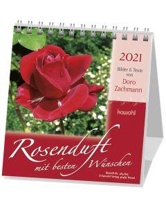 Rosenduft mit besten Wünschen 2021 - Aufstellkalender