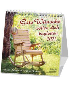 Gute Wünsche sollen dich begleiten 2021 - Postkartenkalender