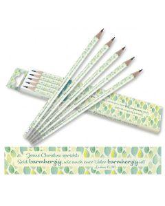 Jahreslosung 2021 - Bleistifte Blätter-Design 20er Pack