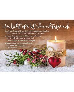 Faltkarte: Im Licht der Weihnachtsfreude