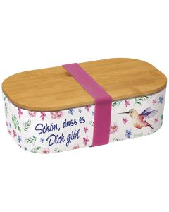"""Lunch-Box: """"Schön, dass es dich gibt"""" (Bambus)"""
