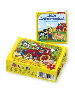Set-Puzzle & Malbuch: Bauernhof