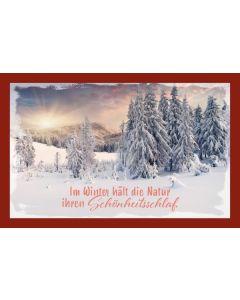Glühweinkarte - Im Winter