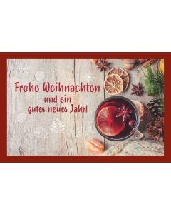 Glühweinkarte - Frohe Weihnachten