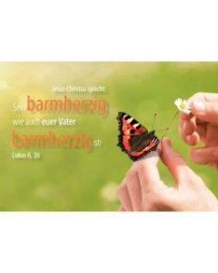 """Jahreslosung 2021 - Postkarte """"Schmetterling"""" 10er Set"""