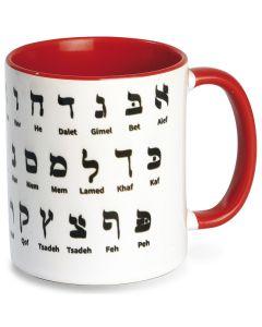"""Tasse """"Hebräisches Alphabet"""""""