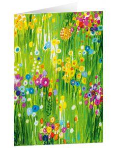 """Kunstkarten """"Blütenwiese"""" - 5 Stk"""