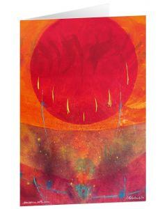"""Kunstkarten """"Sun corona-settle down"""" - 5 Stk."""