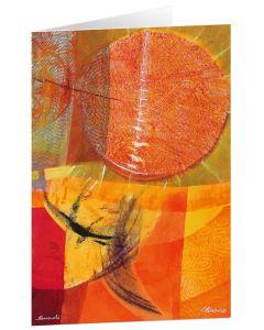 """Kunstkarten """"Sonnenuhr"""" - 5 Stk."""