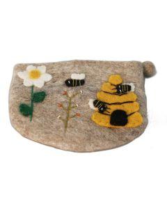 Filztasche Bienenkorb mit Blume