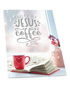 Notizheft: Fueled by Jesus and coffee