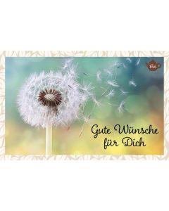 Teekarte - Gute Wünsche für Dich