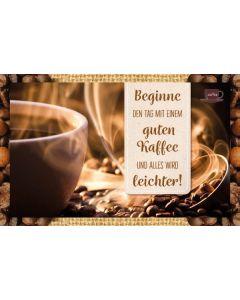 Kaffeekarte - Beginne den Tag...