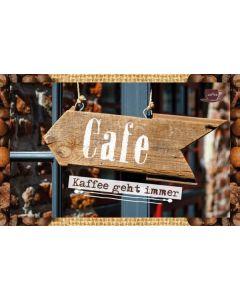 Kaffeekarte - Kaffee geht immer