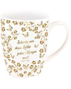 """Tasse """"Schenke uns deine Liebe"""" (Gold-Edition)"""